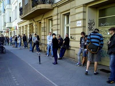 Dozens Waiting To View An Apartment ...