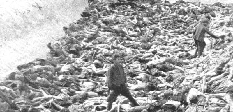 Mass Grave, KZ Bergen-Belsen, Imperial War Museum, Photograph Number BU 4260. (Public Domain)