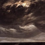 Detail from Meeresküste bei Mondschein /  Seashore by Moonlight. Work is public domain and from Wiki Commons.