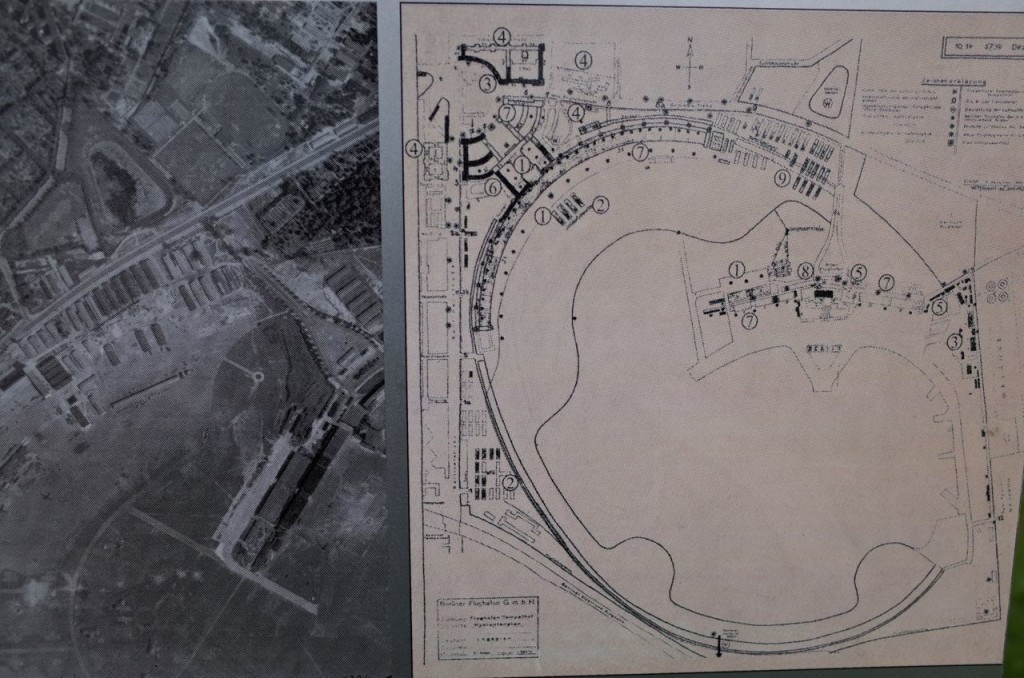1943 Royal Airforce Aerial Photographs of the Site. The Forced Labour Camp is marked No. 9 on the archival site plan.