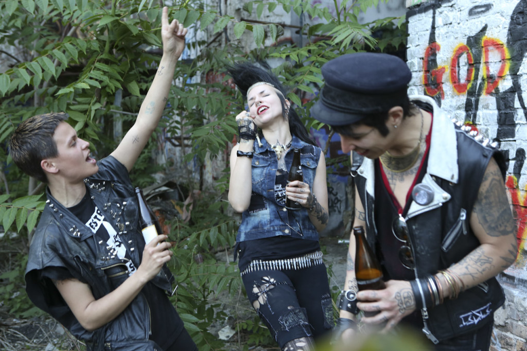 Punks enjoying themselves on set. Used with permission.