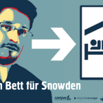 """A Bed for Snowden"": Campaign for Asylum for Snowden in Germany."
