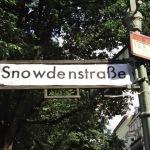 Altered street sign in Kreuzberg, Berlin.