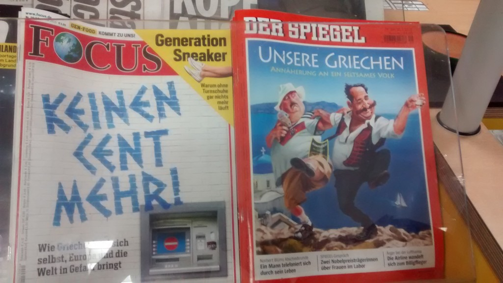 German news coverage of the Greek Crisis.