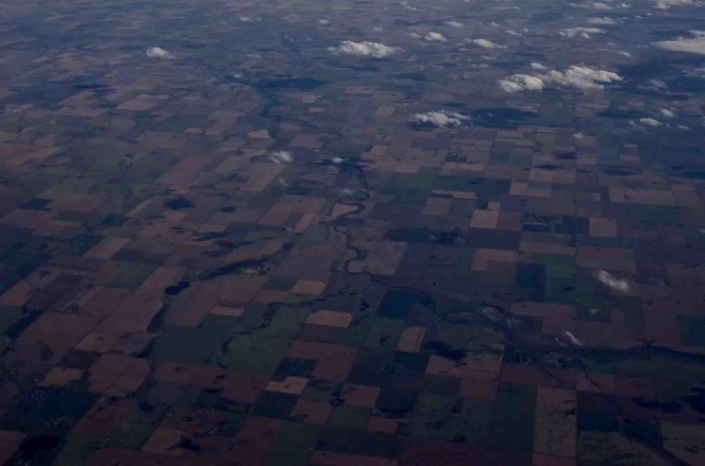 Southern Alberta, the heartland of Harper's support, from the air. Photo by Joseph Pearson.