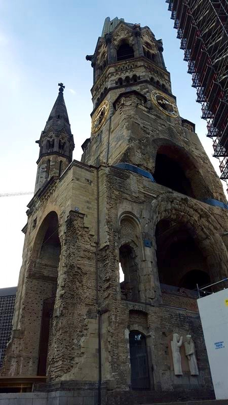 Kaiser Wilhelm Memorial Church in ruins