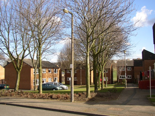 Council Housing in Britain. Used under a wikicommons share-alike license, attribution: Humphrey Bolton