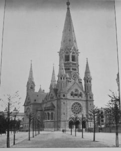 Kaiser Wilhelm Memorial Church, 1900. Photo out of copyright.